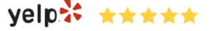 Yelp Logo with 5 Star Review